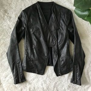 Vegan Leather Jacket XS Black